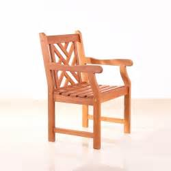 wooden garden chairs with arms outdoor wood chairs with