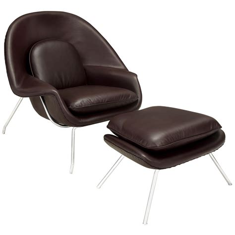 Brown Lounge Chair by Modway W Leather Lounge Chair In Brown Beyond Stores