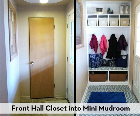 Closet Turned Mudroom by Front Closet Into Mini Mudroom Hip Violet