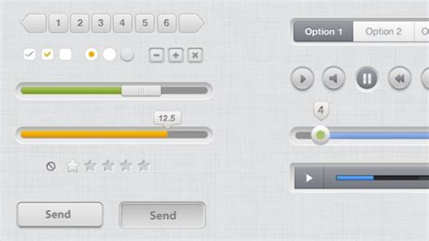 ui layout scroll gray ui kit with scroll bars psd file free download