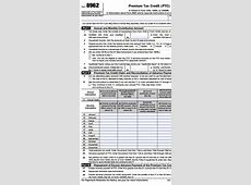 Premium Tax Credit Reconciliation # 8962 2015 Irs Form 8962 Instructions