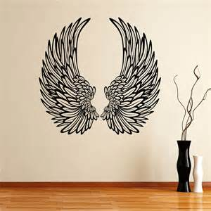 Orange And Grey Dining Room - decorative angel wings wall sticker world of wall stickers
