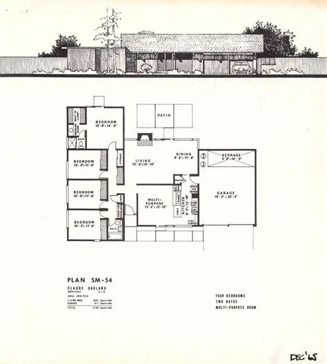 eichler floor plans eichler style house plans 17 best images about eichler mcm