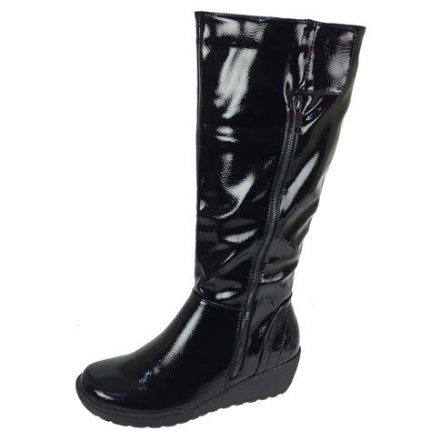 heavenly sandstorm s black patent boots free