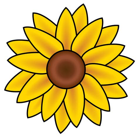 File Sunflower Clip Svg Wikimedia Commons