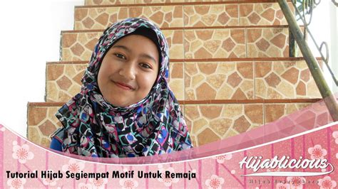 Segiempat Tyrex Motif 1 Hijablicious Tutorial Segiempat Motif Untuk Remaja