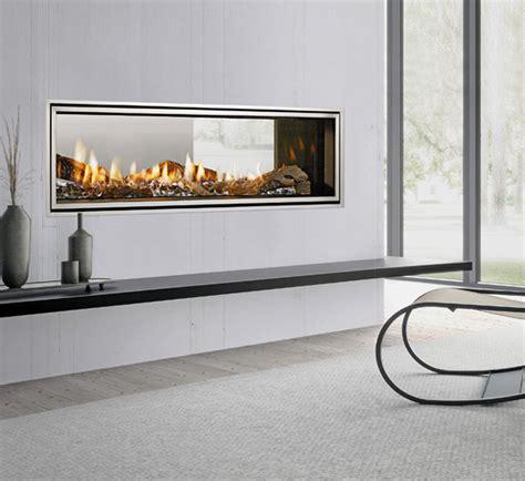 heat glo mezzo 1300st see through gas fireplace turfrey
