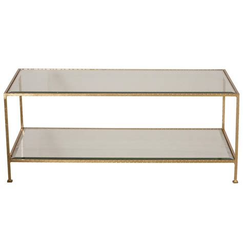 worlds away hammered gold leaf rectangular coffee table