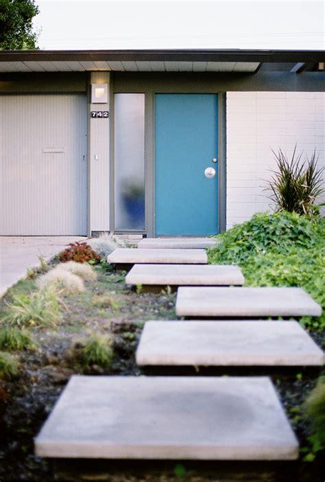 mad  mid century blue mid century modern eichler doors
