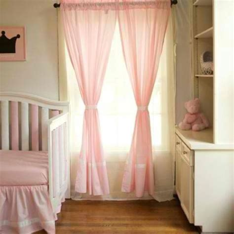 Pink Curtains For Baby Nursery Pink Curtains For Girl Nursery Oh Baby Oh Baby Pinterest