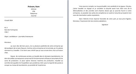 Lettre De Motivation Ouvrier De Production lettre de motivation manoeuvre lettre de motivation