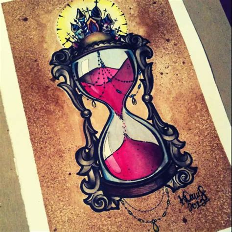 tattoo old school hourglass glass tattoo images designs
