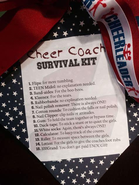 cheer coach survival kit gift allstar cheerleading