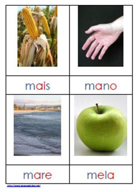 parole di quattro lettere metodo montessori schede delle nomenclature per parole