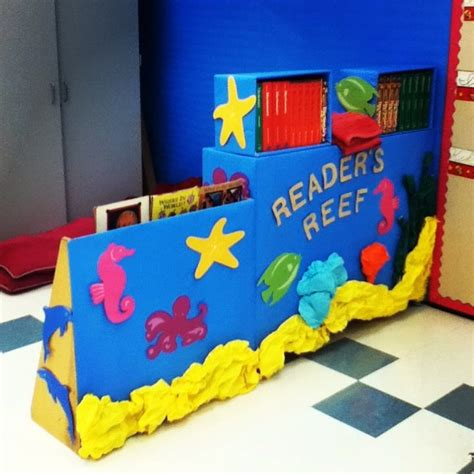 reading themes for preschoolers reader s reef ocean themed reading nook under the sea