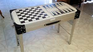 Coleman Cing Kitchen With Sink Vintage Folding Coleman Cing Kitchen Prep Sink Checkers Backgammon Table Ebay