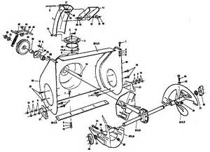 auger housing assembly diagram parts list for model c950523183 craftsman parts snow removal