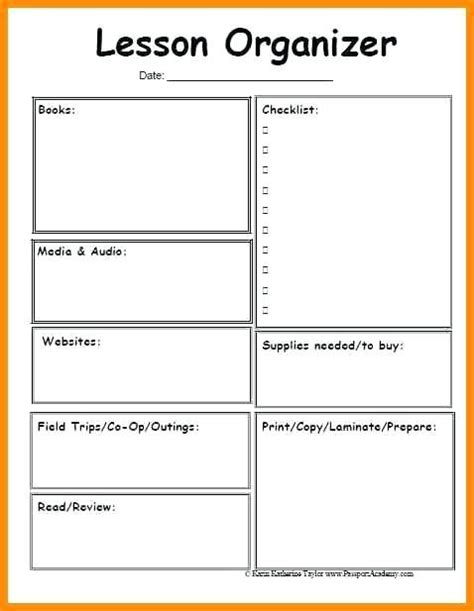 lesson preparation template blank simple lesson plan template blank lesson plan