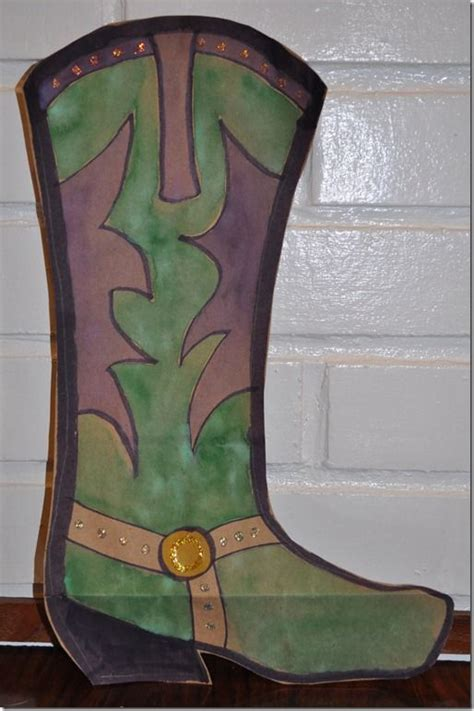 Brown Paper Bag Crafts - cowboy boot craft for crafts crafts for and