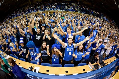 Duke Student Section by Duke Fans Heckle Basketball Player About Dead Ny Daily News