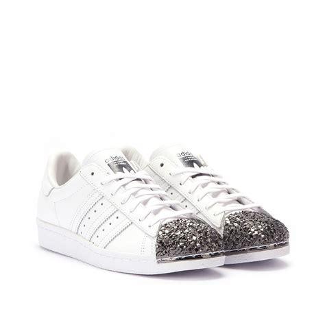 adidas superstar   metal toe tf white black