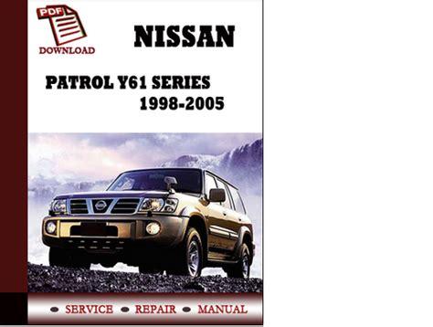 Service Manual Nissan Patrol Y61 Series 1998 1999 2000