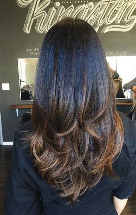 medium brown hair balayage pictures to pin on pinterest long straight thick dark chocolate brown hair with layers