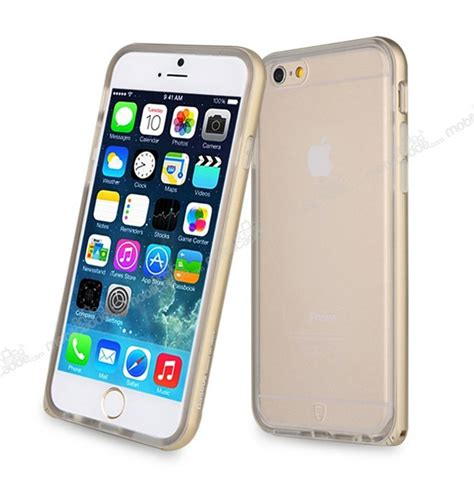 Baseus Fusion Classic Iphone 6 Plus 6s Plus baseus fusion iphone 6 plus 6s plus gold metalik kenarlı şeffaf silikon kılıf