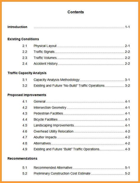 Table Of Contents Format For Research Paper Orderessays Web Fc2 Com Apa 6th Edition Table Of Contents Template