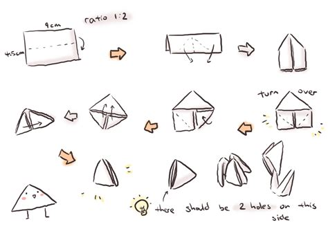 How To Make Paper Pieces - tutorial for origami triangle by wangqr on deviantart