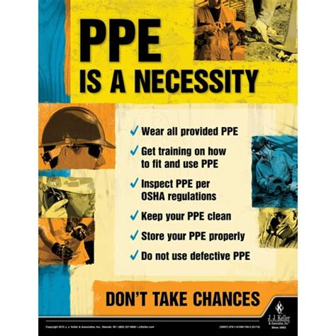 ppe is a necessity   construction safety poster