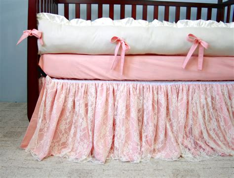Lace Crib Skirt by And Lace Baby Crib Bedding By Whimsicalandwitty