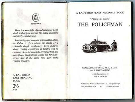 policing books ladybird easy reading book the policeman boreme