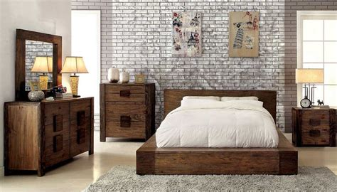 low bedroom furniture low profile bed in rustic finish fa29 contemporary bedroom