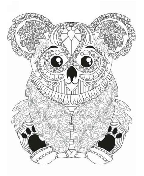 koala adults coloring book stress relief coloring book for grown ups books 531 best images about coloring pages to print animals on