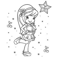 Top 20 Free printable Strawberry Shortcake Coloring Pages