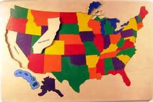 wooden puzzle of the usa a classic with states and