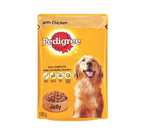 Pedigree Pouch pedigree jelly chicken pouch 100 gm pack of 12