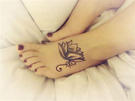 Tattoo Lotus Flower Blackandgrey On Instagram | lotus flower tattoo on foot with swirls black grey and