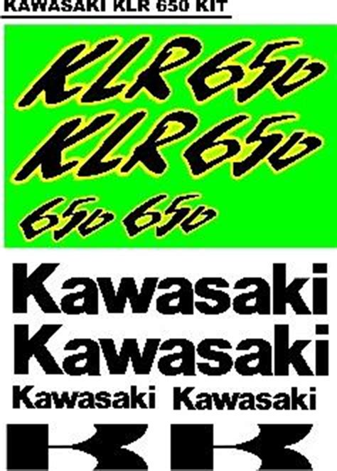 Kawasaki Klr Aufkleber by Klr 650 Kawasaki Decals Graphics Sticker Sets Jhb
