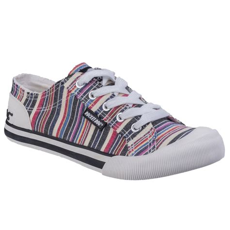rocket womens shoes rocket jazzin womens casual canvas shoes from charles clinkard uk
