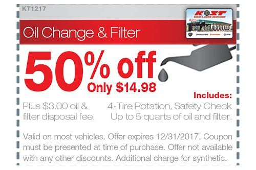 kost tire coupons oil change