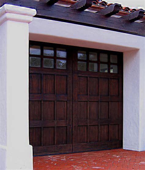Garage Doors Santa Barbara Rustic Carriage Style Garage Door In Santa Barbara Mediterranean Garage Santa