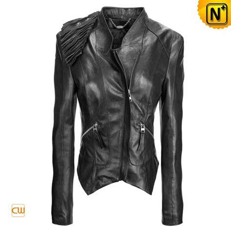 ladies jacket design ladies black leather jackets stitching shoulder decorative