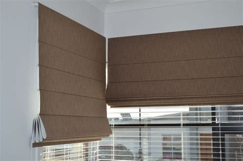 brown patterned roman blinds roman blinds are suitable for corner windows roman