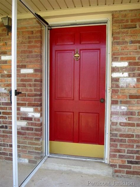 Painted Metal Storm Door And Front Door Home Improvement Painting A Metal Front Door