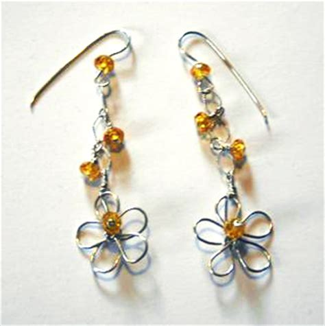 wire for jewelry projects earring pattern by gentry a free wire