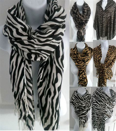us sell new zebra animal print pashmina scarf