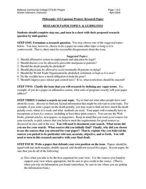 research paper format exle college research paper exle essays