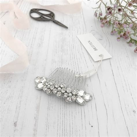Wedding Flower Hair Comb flower wedding hair comb by britten weddings